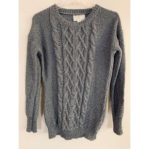 Anthropologie Ruby Moon Cable Knit Wool Sweater